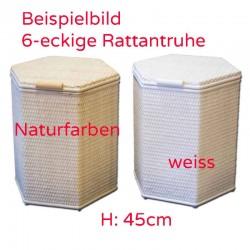 Beispiel 6eckige Rattantruhe