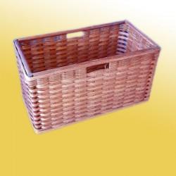 geflochtener Regalkorb honig