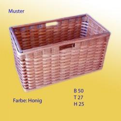 Rattan-Regalkorb honig auf Mass