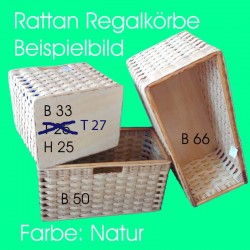 Rattan-Regalkorb handgeflochten auf Mass