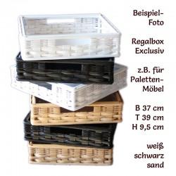 Rattan Regalkörbe passend für Europaletten
