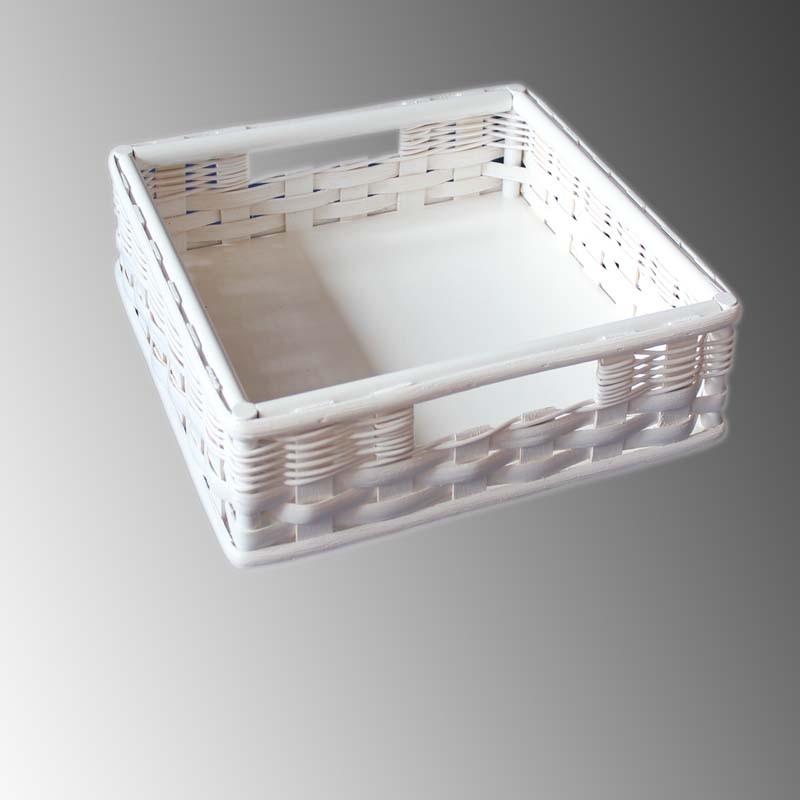 Palettenmöbel-Box exclusiv Rattan weiss
